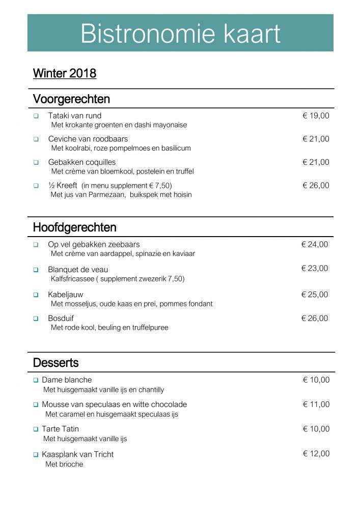 Plaasj food & drinks menu