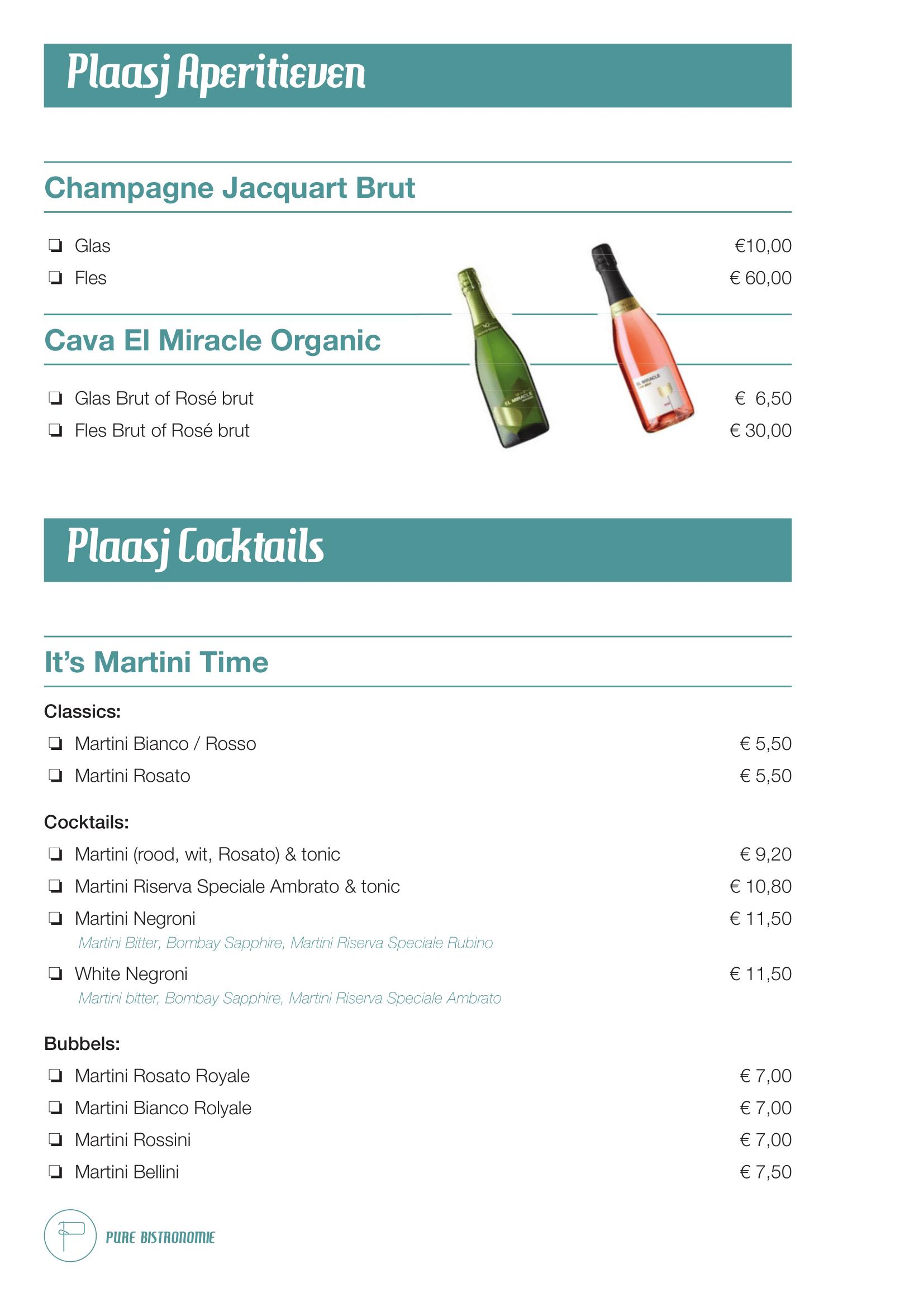 Plaasj-Drank-Aperitieven