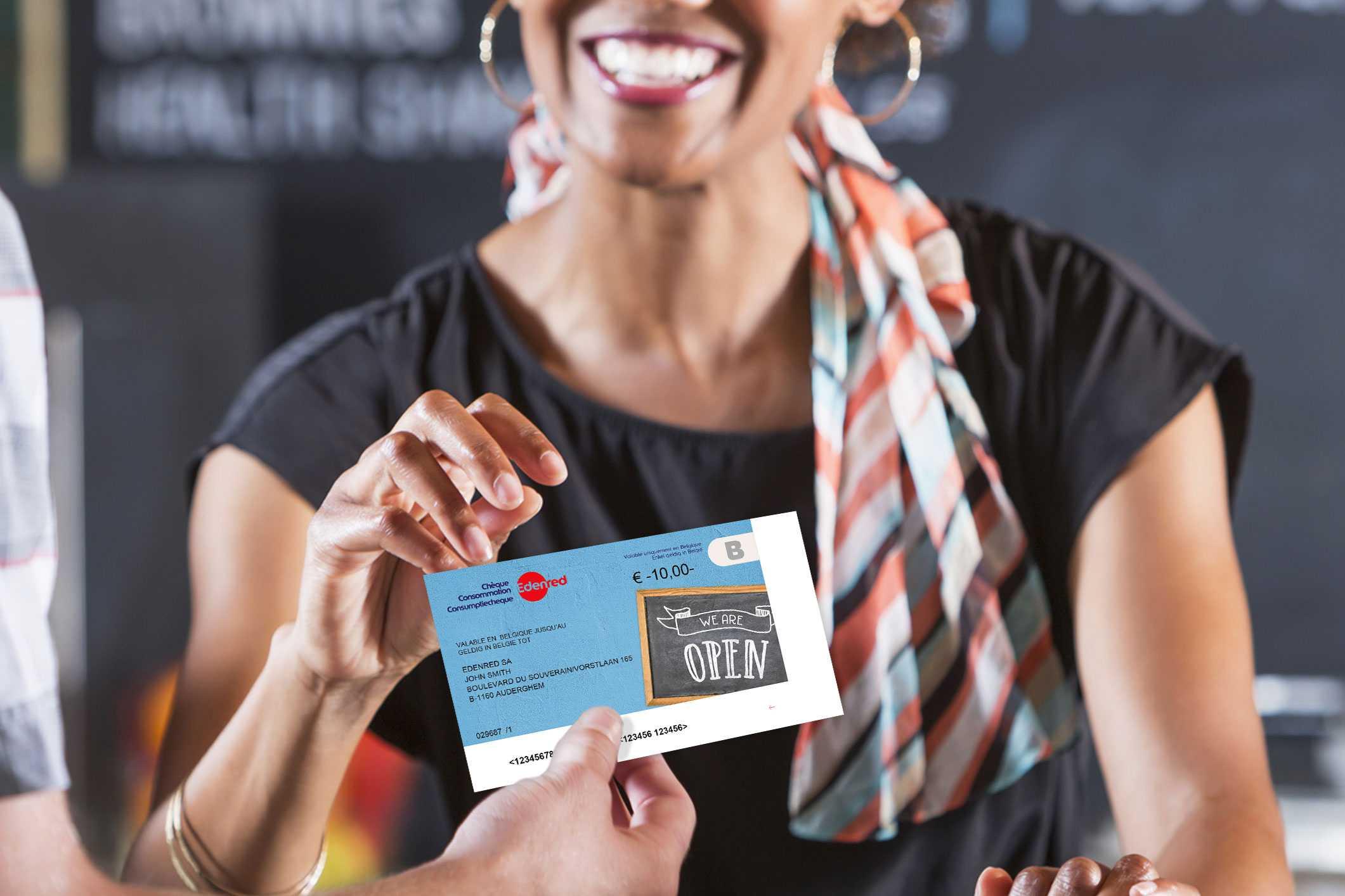 Wij aanvaarden ook de horeca consumptie cheque